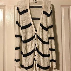 Old Navy Blue & White Striped Sweater Size XXL